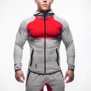 Куртка DoctorMuscle серые с красным